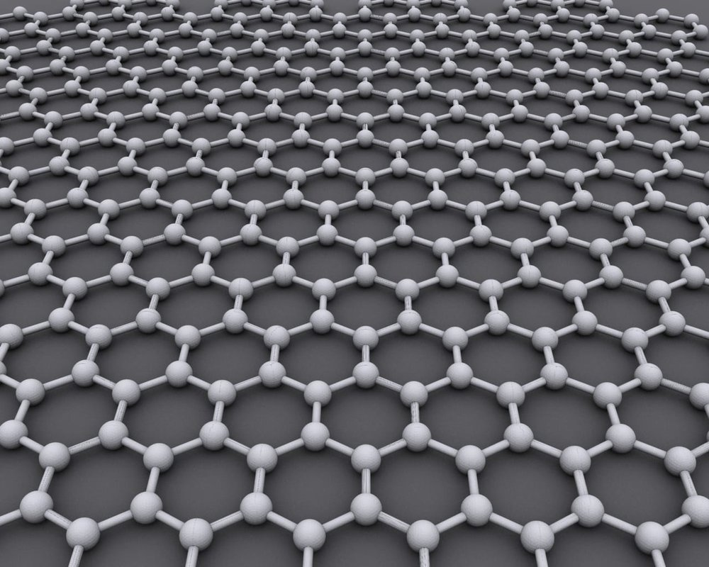 Graphene is a lattice of carbon atoms