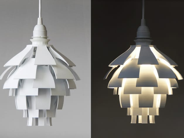 The 3D printed Artichoke Lamp Shade