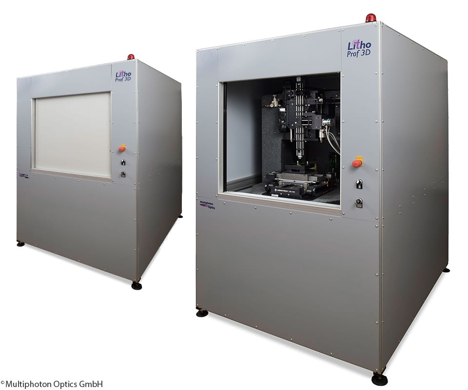 The LithoProf3D from Multiphoton Optics produces extremely detailed 3D prints