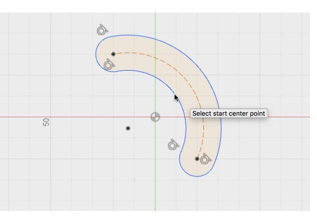 Designing a 3-point arc in the latest version of Fusion 360 from Autodesk