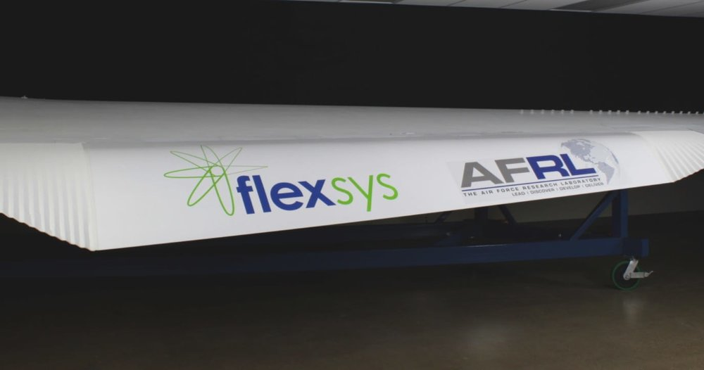 A compliant mechanism airfoil, designed by Flexsys