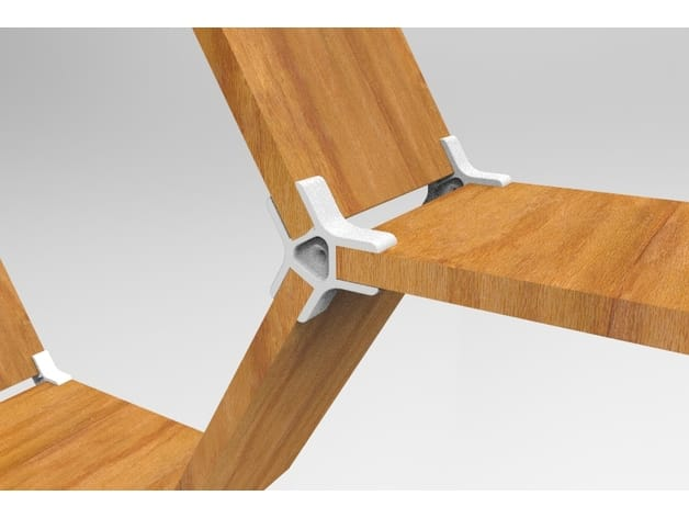 A 3D printed joint for use in developing your own DIY furniture
