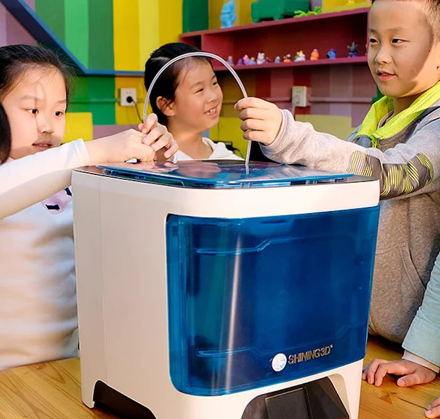 The Einstart-C desktop 3D printer, for the educational market