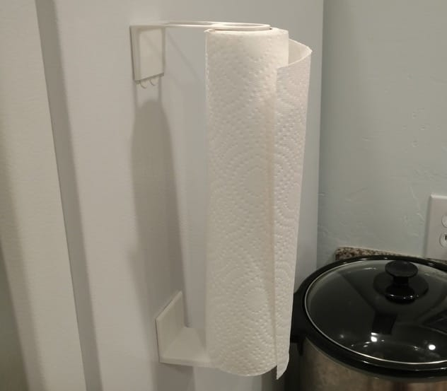 A simple but brilliant 3D printed paper towel roll holder