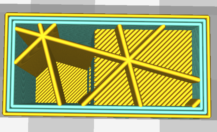 "Using Cura 2.7's new ""Extruder per feature"" feature"