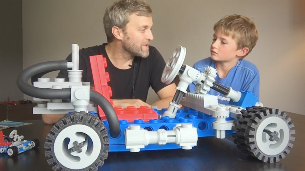 A go-kart made from 3D printed LEGOs?