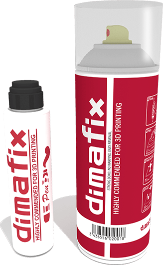 Dimafix - a powerful bed adhesion solution for 3D printing warpy materials