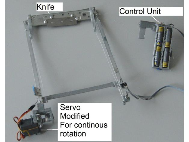 The design and components of an automatic unloading system for Ultimaker 3D printers