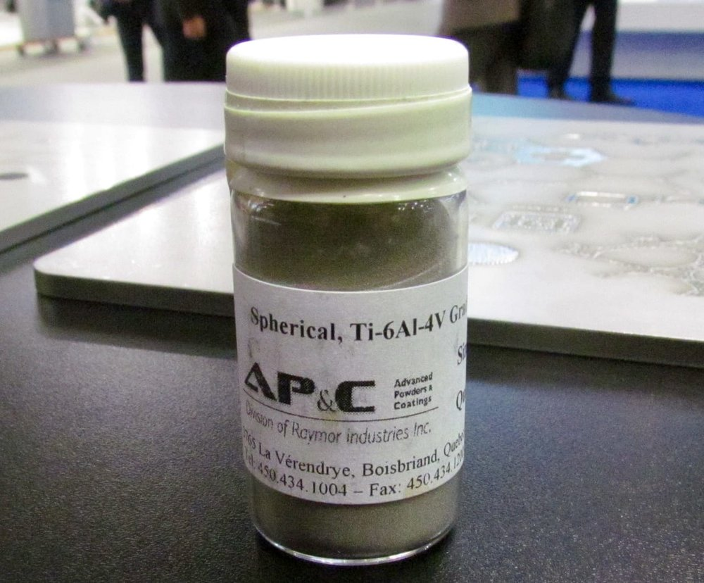 A sample of AP&C's 3D metal printing powder