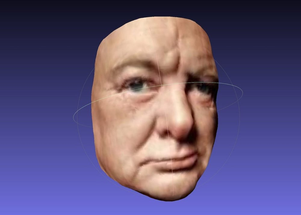 An incredible 3D Winston Churchill