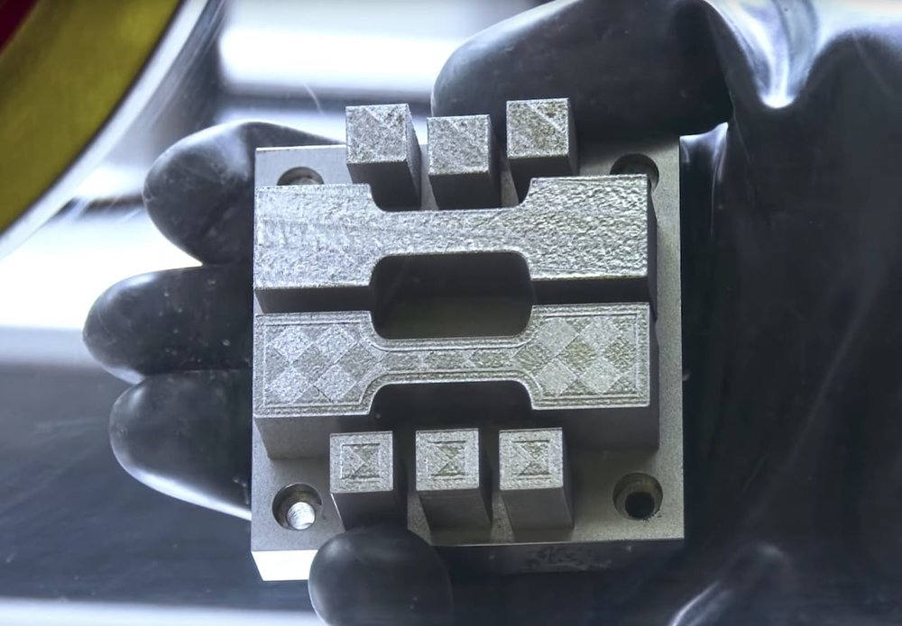 A 3D metal print made from a previously impossible-to-print aluminum alloy