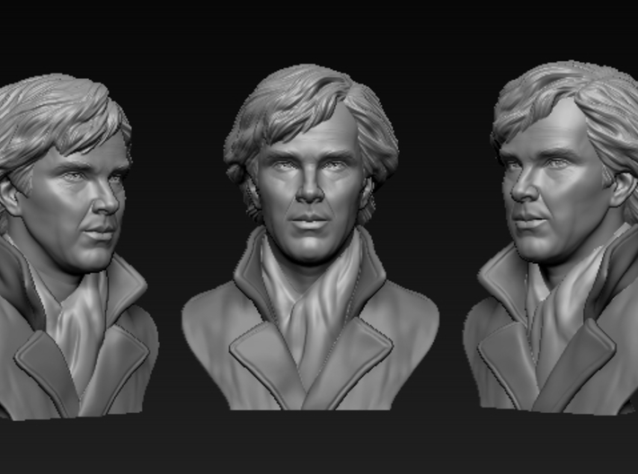 A very realistic-looking Benedict Cumberbatch 3D model