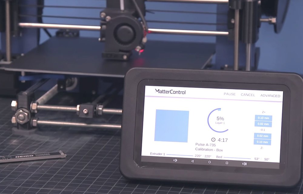 The MatterControl T7X set-top box for intelligent 3D printing from MatterHackers