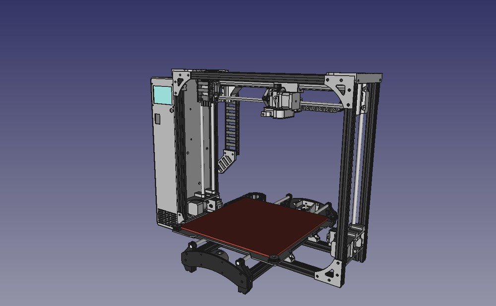 Angled view of the proposed design for the yet-to-be-announced LulzBot TAZ 7
