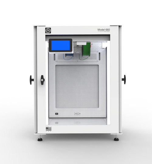 The sophisticated 3DPrintClean Model 660 3D printer enclosure
