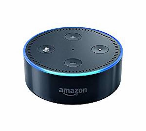 The Amazon Echo Dot voice command system