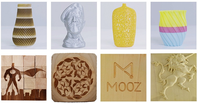 Items you can make with the Mooz series of transformable 3D printers