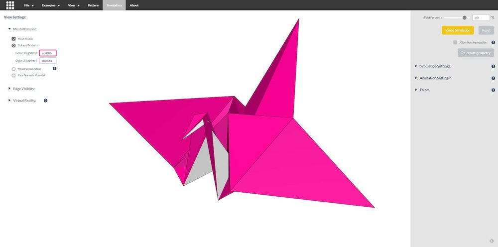 The origami simulator