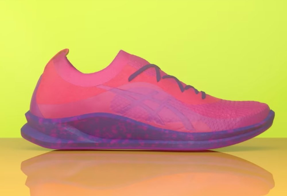The ASICS non-3D printed custom shoe sole