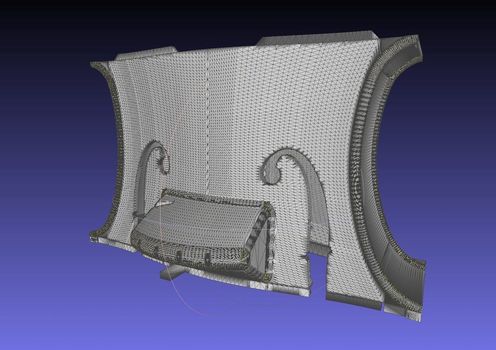 One of the STL 3D files for the 3D printable Hovalin
