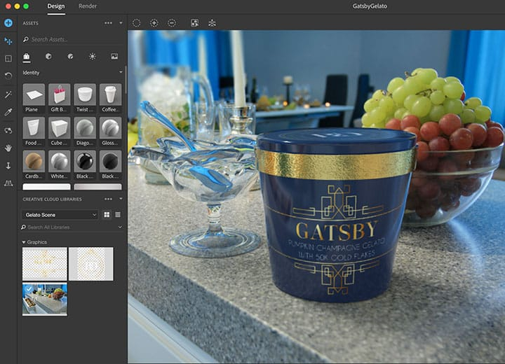 Using Adobe Dimensions to texture 3D objects
