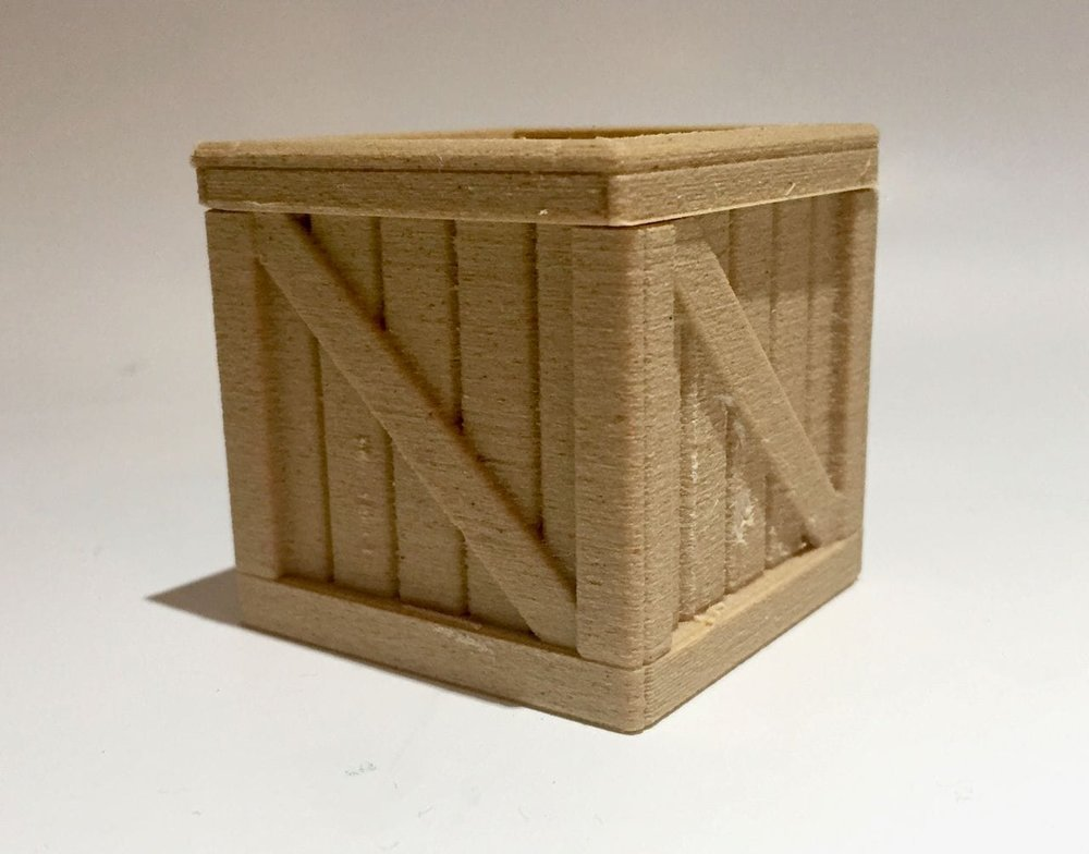 What else should one 3D print in wood? A crate, of course, using Fiberlogy's Fiberwood material