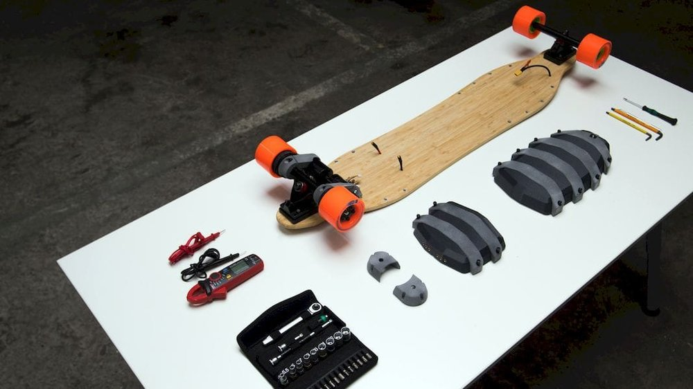 A 3D printed skateboard project