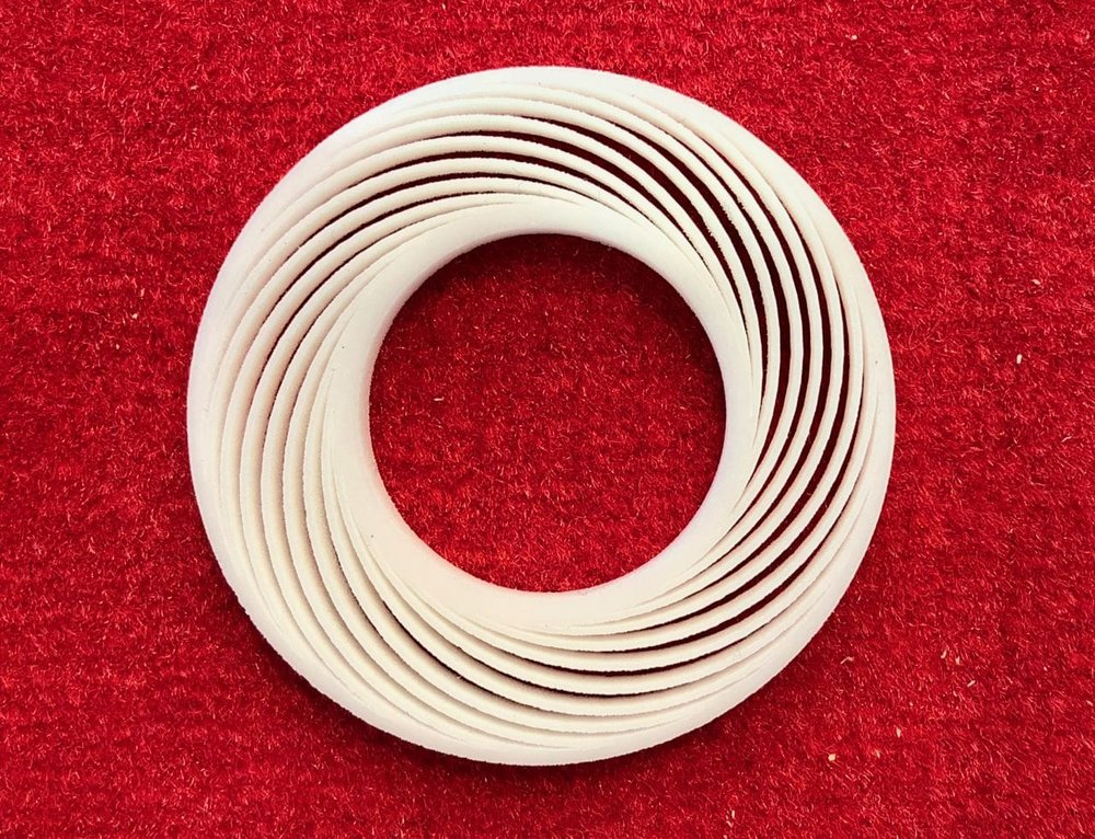 A 3D printed ceramic object with BASF material