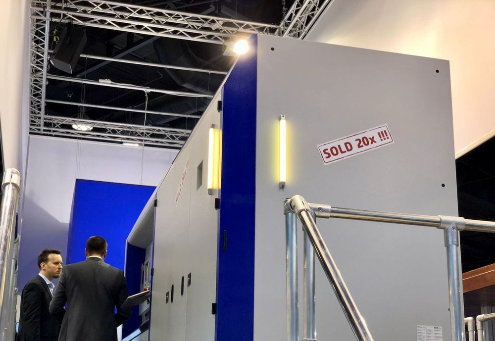 SLM Solutions apparently sold 20 large 3D metal printers at FormNext 2017
