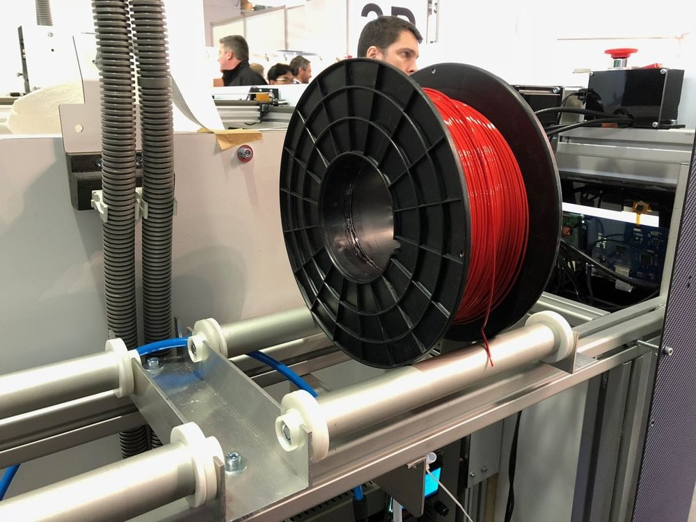 The Kong3D includes massive spool holders for very large quantities of filament