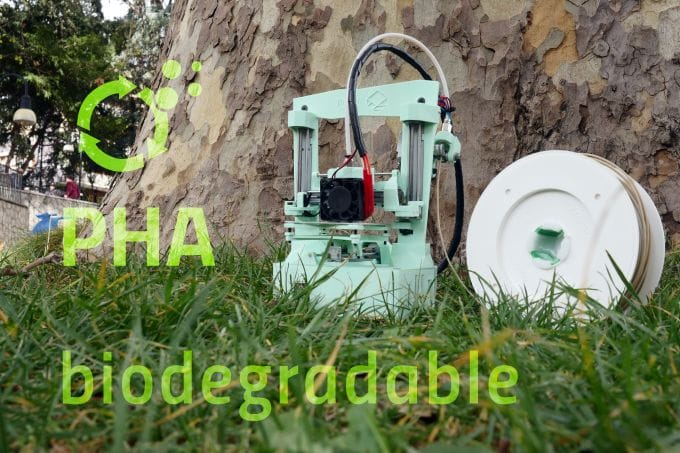 The portable Poly 3D printer is also made from recyclable materials