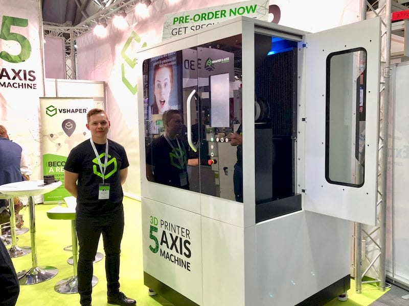VSHAPER's giant 5-Axis tilting 3D printer