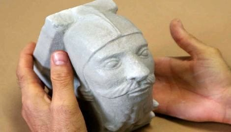 A 3D printed tactile  model of a sculpture