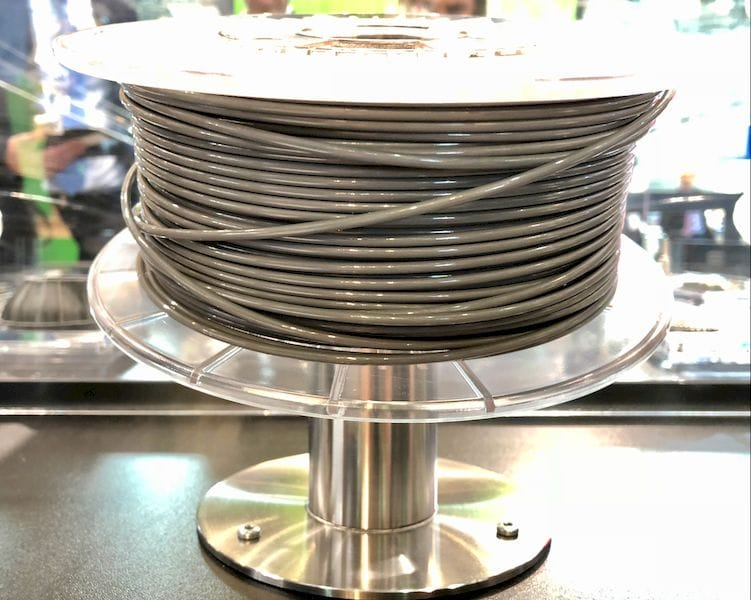 Steel-reinforced 3D printing filament from BASF. You would be surprised how heavy this spool is!