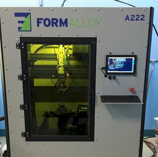 The A-Series of 3D metal printer from Formalloy