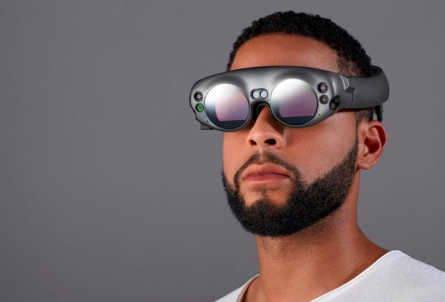The Magic Leap 3D goggles