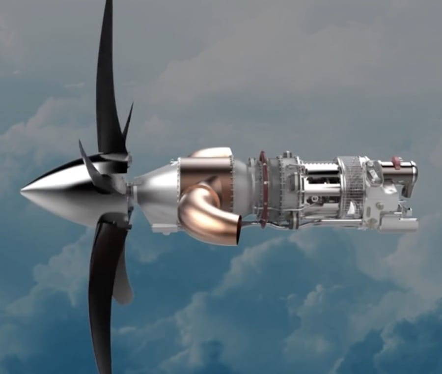 GE's advanced turboprop engine, made from 35% 3D printed parts