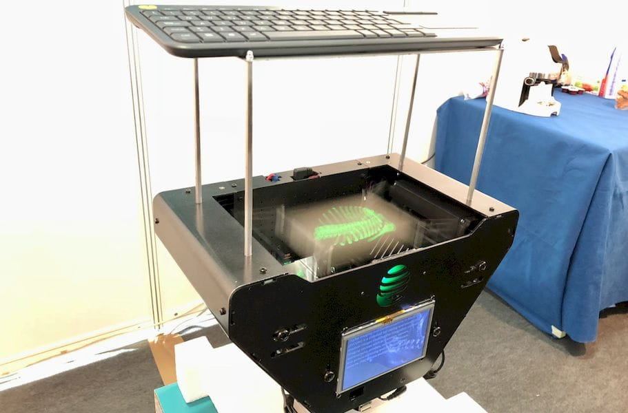 The prototype 3D visualization system from Lumi Industries in action