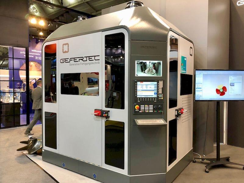 Gerfertec's hybrid 3D metal printer / CNC mill
