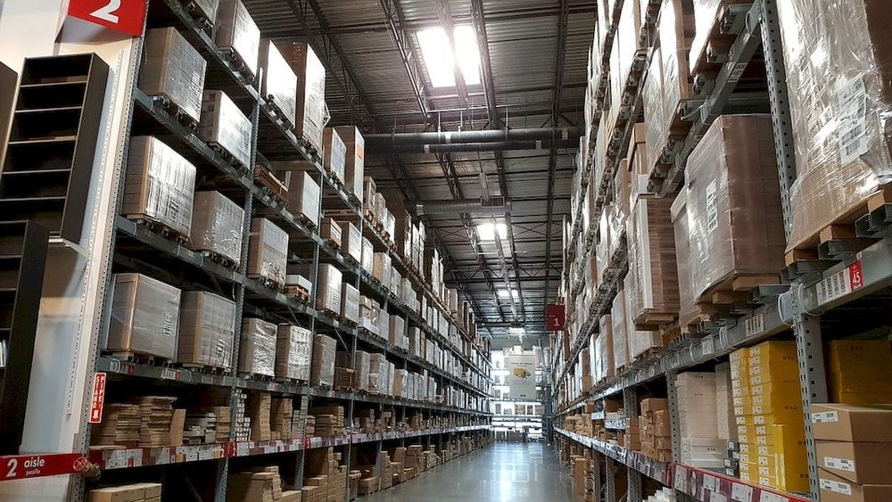 A typical warehouse