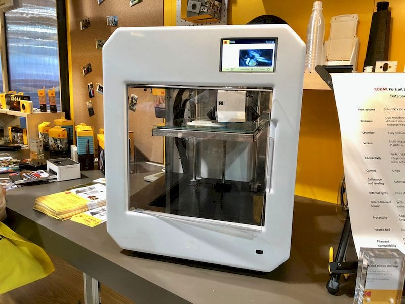The Kodak Portrait professional desktop 3D printer