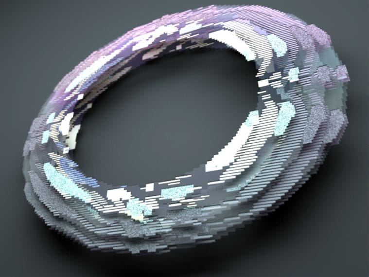 Fig 3. Stacked voxel print slices for evaluation by users.