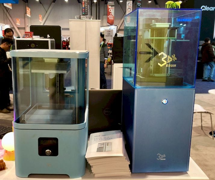 Two resin-powered 3D printers from ESUN Display