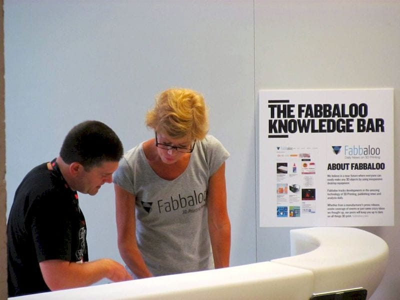 Fabbaloo helping out at a previous 3D Printshow