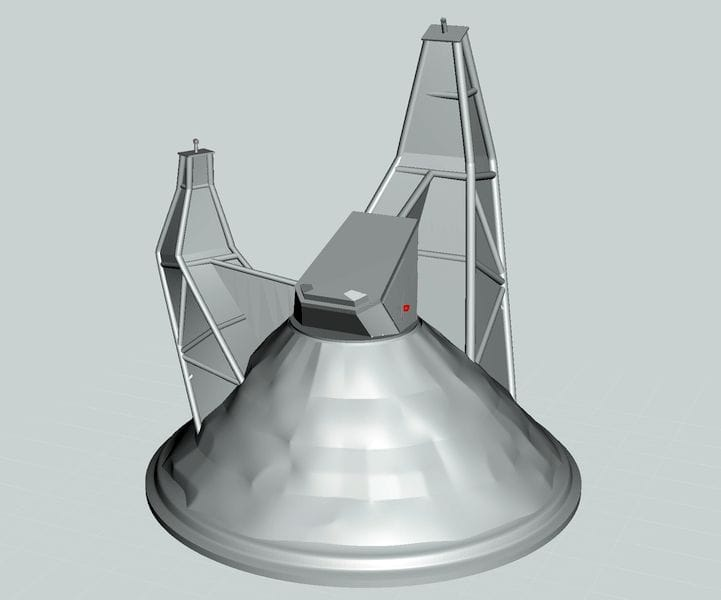 The solid version of the Starman base 3D model