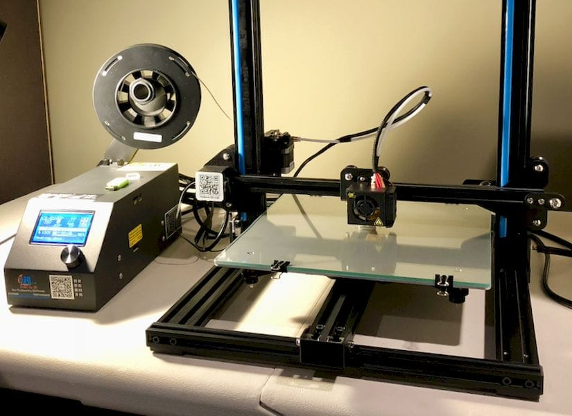 The Creality CR-10S desktop 3D printer