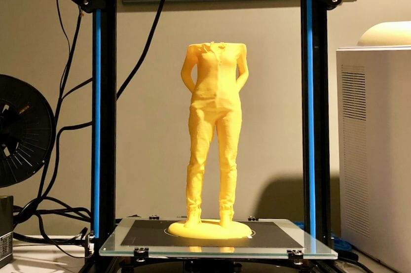 A very large, and unfortunately not quite complete 3D print on the Creality CR-10S desktop 3D printer