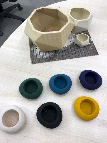 Some of the colors available from Kwambio's new glass-based ceramic material