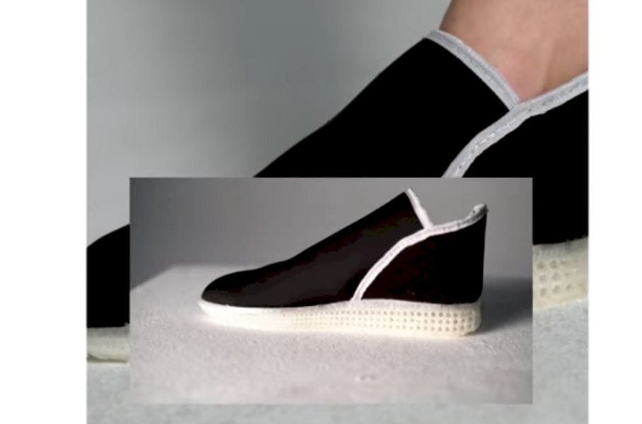 A sneaker made with a desktop 3D printer