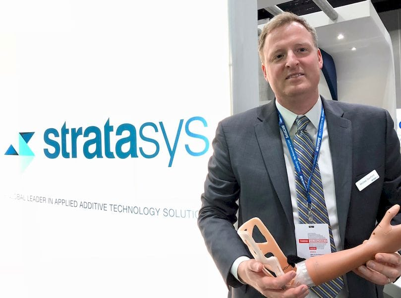 Stratasys' Director of Marketing for Healthcare Solutions, Michael Gaisford